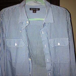 Michael Kors Checkered Button Down